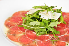 Veal carpaccio Royalty Free Stock Photos