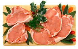 Veal chop for Christmas dinner Stock Photo