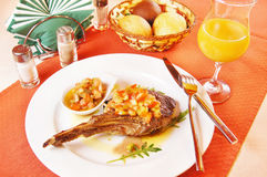 Veal chops with vinaigrette Royalty Free Stock Photos
