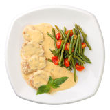 Veal in a creamy sauce Stock Image