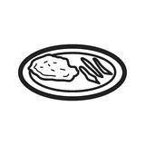 Veal Cutlet. Veal, cutlet, food icon vector image. Can also be used for european cuisine. Suitable for mobile apps, web apps and print media Stock Photo
