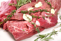 Veal fillet with aromatic herbs Royalty Free Stock Photos