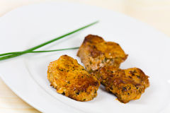 Veal Fillet- Tenderloin with chives royalty free stock images