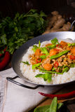 Veal Fricassee with rice Stock Image