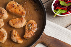 Veal in gravy. Royalty Free Stock Images