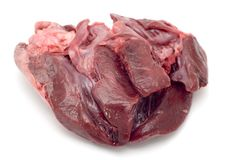 Veal heart macro Royalty Free Stock Photo