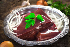 Veal liver Stock Image