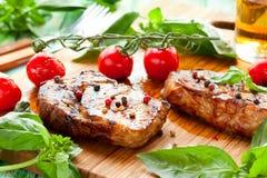 Veal loin steak Stock Photos