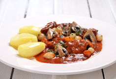 Veal marengo Royalty Free Stock Image
