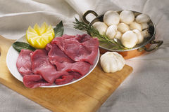 Veal meat Stock Images