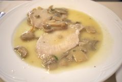 Veal meat with mushrooms Stock Image