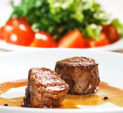 Veal Medallions. Hot Meat Dishes - Veal Medallions Stock Photo