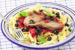 Veal Mediterranean side view Royalty Free Stock Images