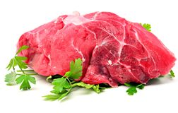 Veal with parsley Royalty Free Stock Photography
