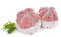 Veal paupiette. In front of white background Royalty Free Stock Photo