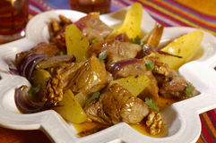 Veal and pear Tajine Stock Images