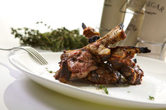 Veal ribs Stock Images