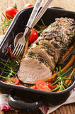 Veal Roast with Vegetable Royalty Free Stock Photography