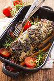 Veal Roast with Vegetables Stock Photos
