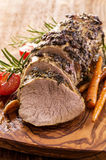 Veal Roast with Vegetables Royalty Free Stock Image