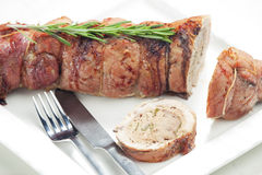 Veal roll Stock Photography