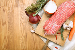 Veal roll ready to cook Royalty Free Stock Photo