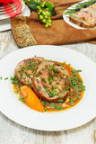 Veal Roulade. Holiday Meat Roulade. Veal Roulade. Spiced Veal Roulade on festive  table Royalty Free Stock Photo