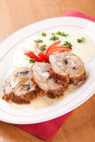 Veal roulade stuffed with minced meat Royalty Free Stock Photo