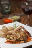 Veal roulade Stock Photography