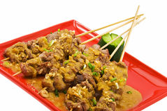 Veal satay 2 Stock Photography