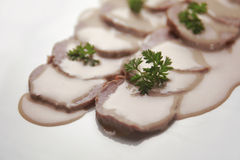 Veal with sauce stock images