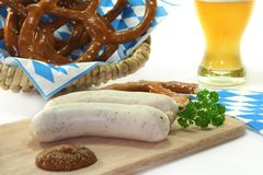 Veal sausage Stock Photography
