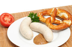 Veal sausages Royalty Free Stock Photography