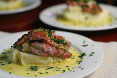 Veal Scallopine, landscape mid Royalty Free Stock Images