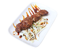 Veal of skewer Royalty Free Stock Photography