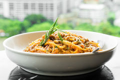 Veal Spaghetti Bologna Stock Photography