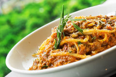 Veal Spaghetti Bologna Stock Images