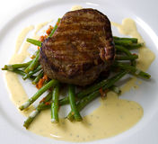 Veal steak stock photos