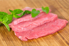 Veal Steak ,raw , close up Royalty Free Stock Photography