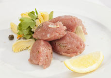 Veal Steak Tartar Royalty Free Stock Photography