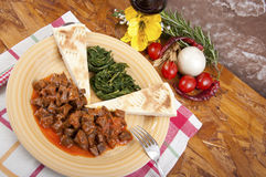 Veal stew heart of the hunter, Royalty Free Stock Photos