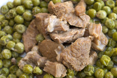 Veal stew with peas Royalty Free Stock Photo
