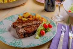 Veal T-Bone Steak Royalty Free Stock Photo