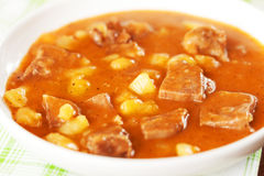 Veal tongue stew Royalty Free Stock Images