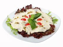 Veal with tuna sauce Royalty Free Stock Image