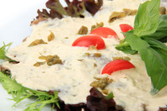 Veal with tuna sauce close up Royalty Free Stock Photo