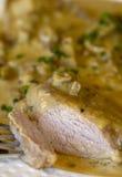 Veau avec la sauce aux champignons 2 Photographie stock libre de droits