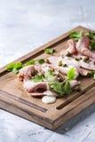 Veau avec le tonnato de vitello de sauce à thon Photographie stock
