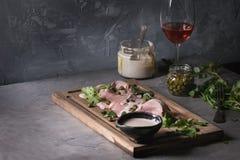 Veau avec le tonnato de vitello de sauce à thon Images stock