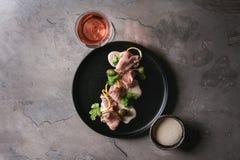 Veau avec le tonnato de vitello de sauce à thon Image libre de droits